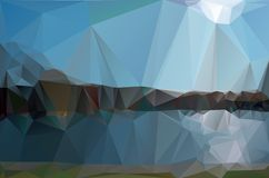 Landscape in a minimalist style. Royalty Free Stock Image