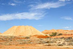 Surreal landscape mining towns, South Australia Royalty Free Stock Photography