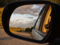 Landscape in the mirror Royalty Free Stock Images