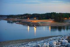 Landscape of Mississippi. Set taken on a dam royalty free stock image
