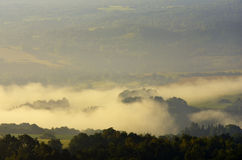 Landscape in the Mist Royalty Free Stock Photography