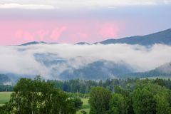 Landscape in the mist Royalty Free Stock Images