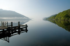 Landscape mist and loch Stock Photography