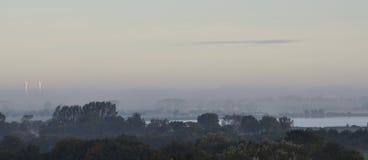 Landscape on a misty morning Royalty Free Stock Photos