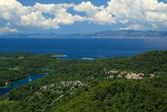 Landscape on Mljet Stock Photography