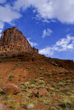 Landscape of Moab, Utah. Rock landscape of Moab, Utah, on partially cloudy day Royalty Free Stock Photos
