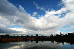 Landscape of moat, Angkor Wat Stock Photography