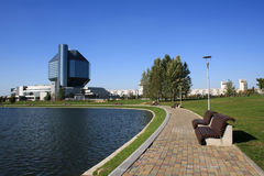 Landscape with modern building Stock Photo