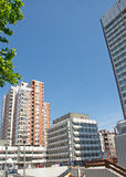 Landscape of modern buildings in Belgrade Downtown, Serbia Stock Photography