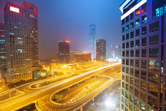 Landscape of modern city ,beijing Stock Photo