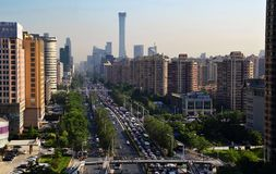 Landscape of modern city, Beijing, China stock photos