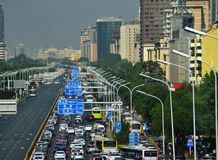 Landscape of modern city, Beijing, China royalty free stock photo