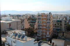 Capital city of Athens. Greece. 06.16. 2014. The landscape of the city of ancient Athens. Royalty Free Stock Photography