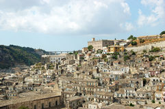 Landscape of Modica (Italy). Landscape of historical town of Modica, located in Sicily, the beautiful island in south Italy Royalty Free Stock Images