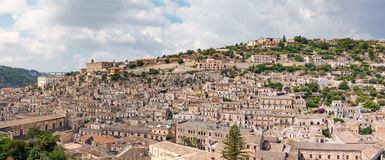Landscape of Modica, Sicily, Italy Stock Photos