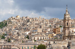 Landscape of Modica, Sicily, Italy Stock Photography