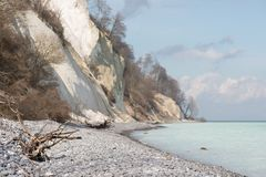 Landscape on Moens Klint royalty free stock image