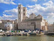 Landscape of Molfetta Old Seaport. Apulia. Stock Photo