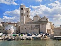 Landscape of Molfetta Old Seaport. Apulia. Landscape of Molfetta Old Seaport with Cathedral. Apulia stock photo