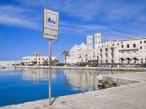 Landscape of Molfetta Seaport. Apulia. Royalty Free Stock Photos