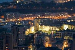 Landscape of Monaco of Night Stock Photo