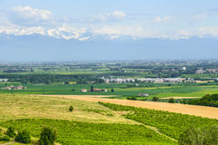 Landscape of Monferrato (Italy) Royalty Free Stock Image