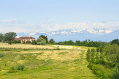 Landscape of Monferrato (Italy) Royalty Free Stock Photo