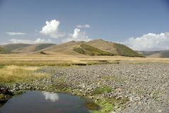 Landscape in Mongolia Royalty Free Stock Photos
