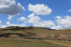 Landscape in Mongolia. The open landscape of mongolia Stock Photos