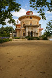 Landscape at Monseraty park with beautiful house, Cintra, Portug Stock Image