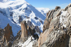 Landscape at Mont Blanc Stock Photo