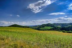 Landscape in Montefeltro near Urbania Marches, Italy Stock Image