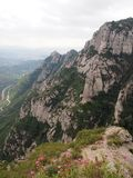 Landscape Montserrat. Mountains in catalonia Royalty Free Stock Photo