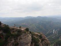 Landscape Montserrat. Mountains in catalonia Stock Images