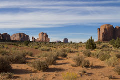 Landscape in the Monument Valley. Beautiful landscape in the Navajo`s Tribal Park in the Monument Valley USA Stock Images