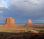 Landscape at monument valley in sunset Royalty Free Stock Photo
