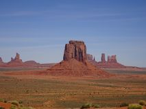 Landscape in Monument Valley, Utah, USA. Lovely landscape in Monument Valley in Utah, USA Royalty Free Stock Image