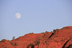 Landscape and Moon Stock Photography