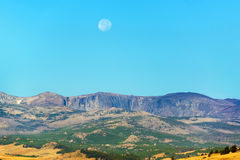 Landscape and Moon Stock Image