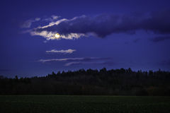 Landscape in the moonlight Royalty Free Stock Photo