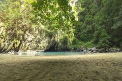 Landscape in Morakot Cave Emerald Cave Muk island Trang Thailan stock images