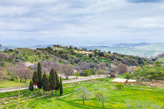Landscape with Morgantina archaeological area Royalty Free Stock Photo