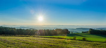 Landscape in the morning sunlight Royalty Free Stock Images