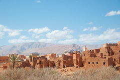 Landscape of morocco. Beautiful panorma of a rural city in morocco Stock Photo