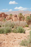 Landscape of morocco. Beautiful panorma of a rural city in morocco Royalty Free Stock Image