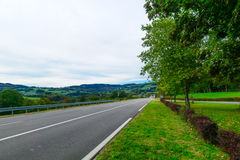 Landscape in the Morvan Mountains Stock Photo