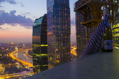 Landscape Moscow city, Moscow, Russia Royalty Free Stock Image