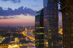 Landscape Moscow city, Moscow, Russia Stock Image