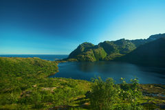 Landscape on Moskenesoya, Lofoten, Norway Stock Image