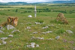 Landscape with a mosque from the Pester Plateau in Serbia Stock Images